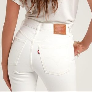 Levi's classic 501 skinny white jeans button fly